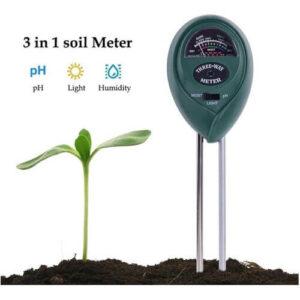 3 in 1 Plant Flowers Soil pH Tester, Moisture, Light Meter