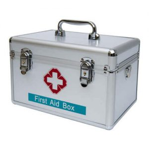 First Aid Box with Security Lock – Aluminum Made