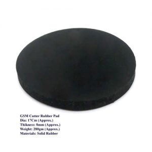 GSM Cutter Rubber Pad Round Black Color