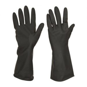 Industrial Hand Gloves, Black Color 1 Pair