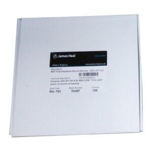 James Heal BHT-Free Polythene Film 63 Microns 100 Pcs/Box