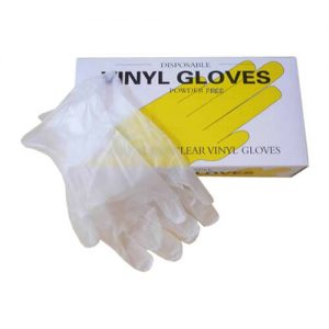 Powder Free Vinyl Hand Gloves 100 Pcs