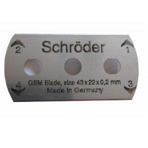 Schroder GSM Blades for Sample Cutting