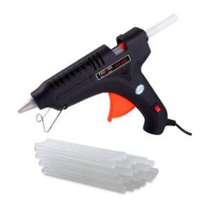 100W Hot Melt Glue Gun with 10 Pcs 11 Inch Glue Stick