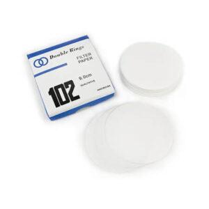 Double Rings 9 cm Filter Paper, 100 Pcs Per Box