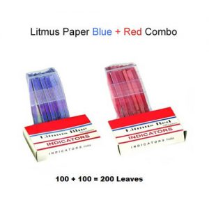 Litmus Papers Red+Blue India (200 Strips)