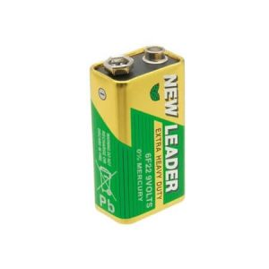New Leader 9V Battery Extra Heavy Duty 0% Mercury