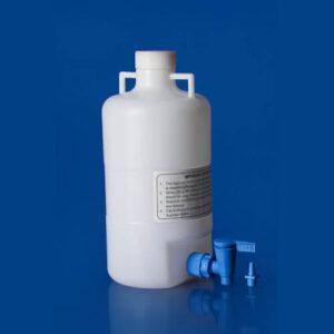 PolyLab 10 Liter Plastic Aspirator Bottle For Laboratory